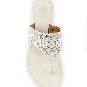 Tory Burch Shoes - Tory burch roselle pebbled leather ivory sz 7